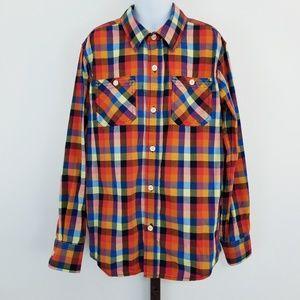 GAP Multi-Color Long Sleeve Button Front Shirt